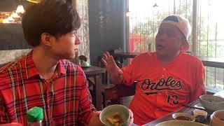 Anh Tú ăn từ bàn Tiến Luật tràn qua bàn Hoàng Mèo tại nhà hàng của em gái Trấn Thành