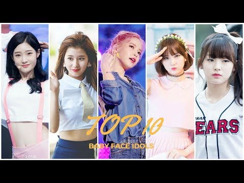 TOP 10 Baby Face K-pop Idols (Girl Groups) 2017 Part. 1
