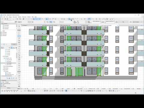 BIM med ARCHICAD: ID-merking i fasade og oppriss
