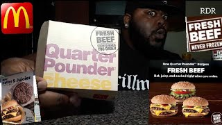 McDonald's NEW ☆Fresh Beef☆ Quarter Pounder Review!!!