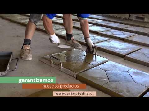 Pastelones arte piedra - Como colocar baldosas ...