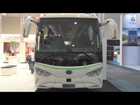 BYD C9 Electric Coach Bus Exterior and Interior in 3D
