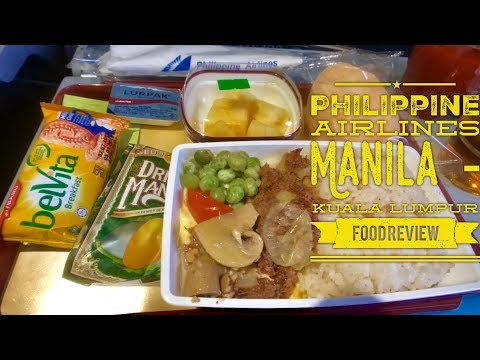 Philippine Airlines: Manila - Kuala Lumpur Food Review Inflight Service Halal Corned Beef