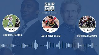 Cowboys/Falcons, AD's buzzer-beater, Seahawks/Patriots (9.21.20) | UNDISPUTED Audio Podcast