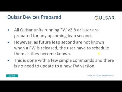 Leap Second 2016 - Qulsar