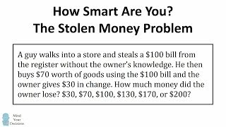 HOW SMART ARE YOU? The Stolen Bill Riddle (Viral Math Problem) - The Correct Answer Explained