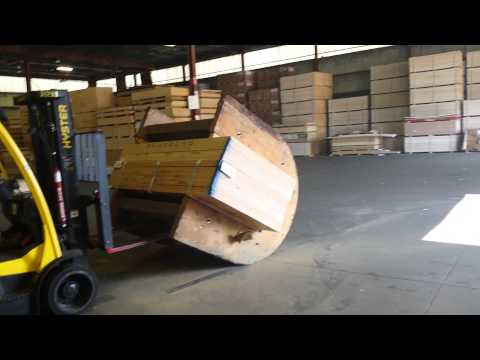 How to flip a unit of plywood