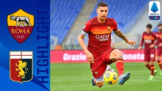 Roma 1-0 Genoa | First-Half Mancini Strike Seals Win For The Hosts! | Serie A TIM