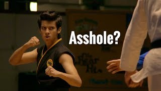 Why did Miguel turn into an asshole at the end of Cobra Kai?