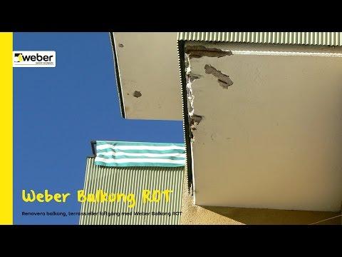Renovera balkong, terrass eller loftgång med Weber Balkong ROT