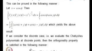 Mod-01 Lec-32 Orthogonal Polynomials