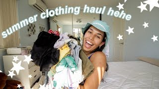 a *very cute* summer clothing haul (try-on)