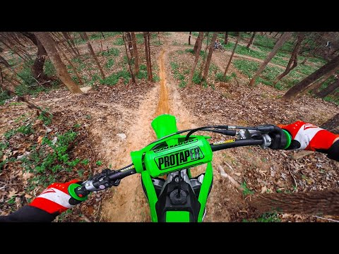 Woods Trail Riding on 2020 Kawasaki KX250F
