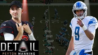 Peyton Manning Analyzes Josh Rosen's & Matt Stafford's Pre-snap Reads