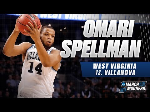 Villanova's Omari Spellman flirts with a double-double in the Sweet 16 victory