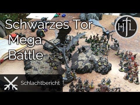 MEGA Battlereport - DRdK #13 - Die Schlacht am Schwarzen Tor (Mittelerde / Hobbit / Herr der Ringe)