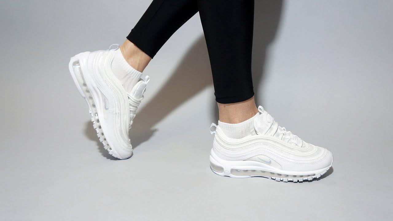 air max 97 on feet white