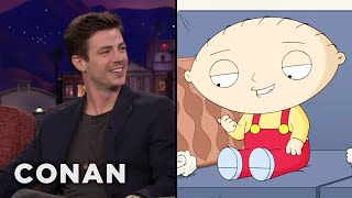 Grant Gustin Is Flattered By Stewie's Crush On Him