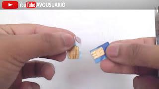 Como cortar correctamente tu SIM para celulares Nuevos NanoSim