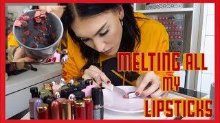 Melting All My Nude Lipsticks Together   JessieMaya