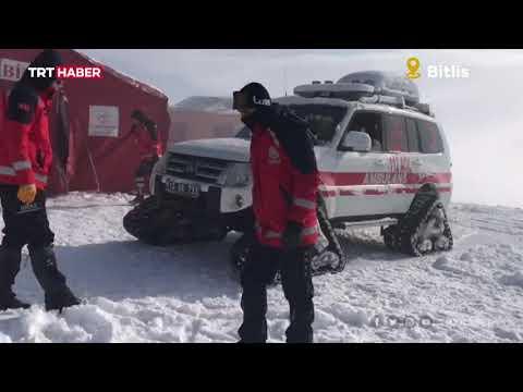 Helikopter enkazının bulunduğu bölgede zorlu hava şartları hakim
