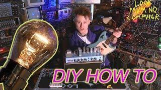 #Guitar through a Lightbulb? make a lightbulb Compressor #EASY