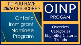 🇨🇦 OINP- Ontario PNP Program Explained (PART 1) Express Entry 2018