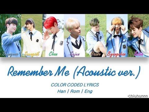 VICTON (빅톤) - REMEMBER ME (나를 기억해) (Acoustic ver.) Lyrics [Color Coded Han/Rom/Eng]