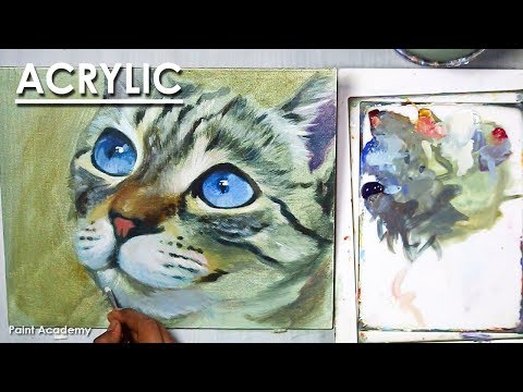 Acrylic Painting : A Cat Portrait