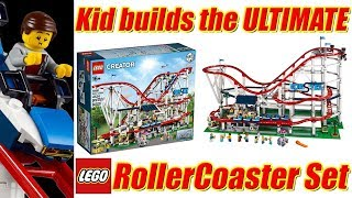 LEGO Roller Coaster 10261 2018 Time Lapse Build and overview