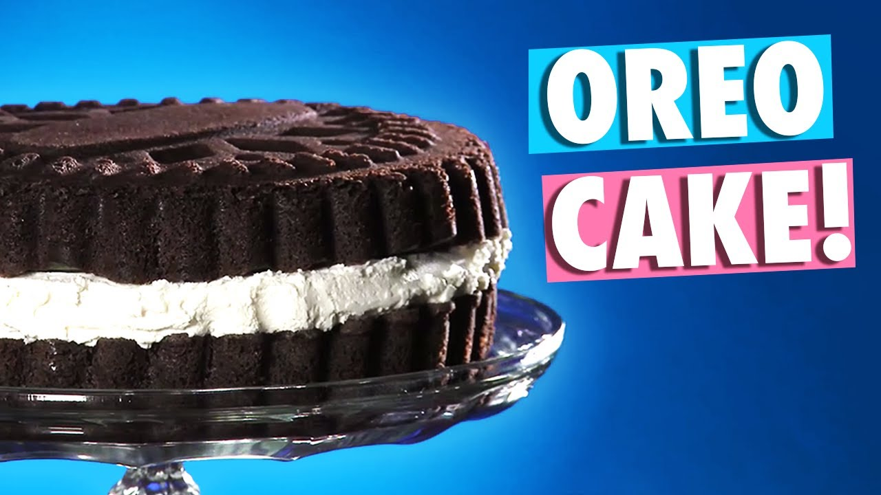 Bake A Cake That Looks Like A Giant Oreo Youtube