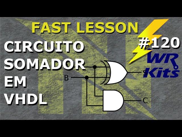 CIRCUITO SOMADOR EM VHDL | Fast Lesson #120