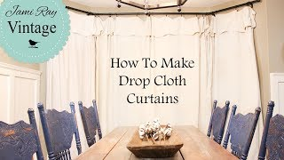 Drop Cloth Curtains | Farmhouse Curtains