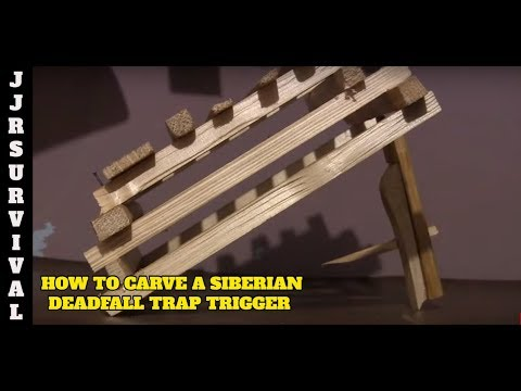 how to carve a siberian deadfall trap trigger