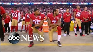 Colin Kaepernick Kneels During National Anthem on 'Monday Night Football'