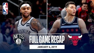Full Game Recap: Nets vs Bulls | D'Angelo Russell and Zach LaVine Duel In Chicago