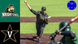 Wright State vs #3 Vanderbilt Highlights | Doubleheader Game 1 |  2021 College Baseball Highlights