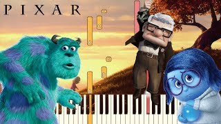 6 Sad Pixar Themes (That Will Make You Cry)   Piano Tutorial (Synthesia)