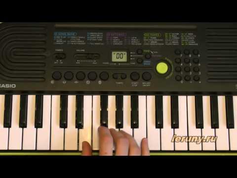 Как играть на пианино песню