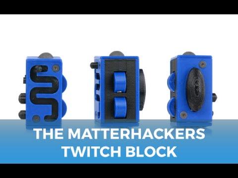 The Twitch Block - 3D Printed Fidget Cube