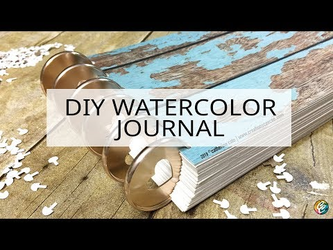 DIY watercolor journal with disc binding