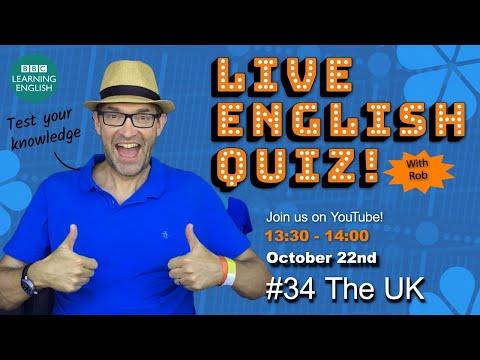 Live English Quiz #34 The United Kingdom