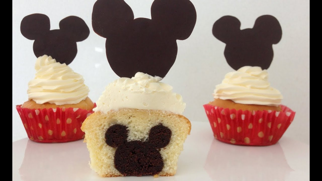Mickey Mouse Cupcakes Mickey On Inside How To Cook That