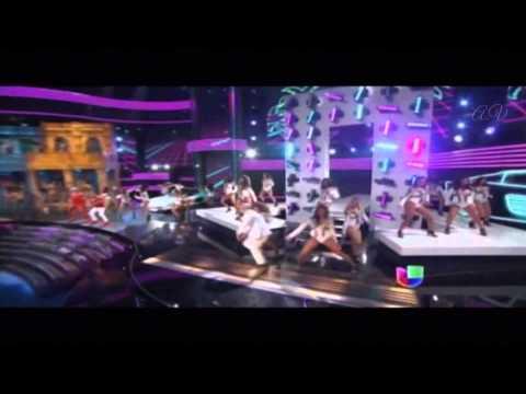 Pitbull y Gente de Zona en Premios Lo Nuestro 2015