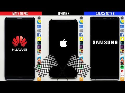 Huawei Mate 10 Pro vs. iPhone X vs. Galaxy Note 8 Speed Test