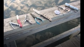 Magnet Fishing! Caught a pretty nice knife & more!