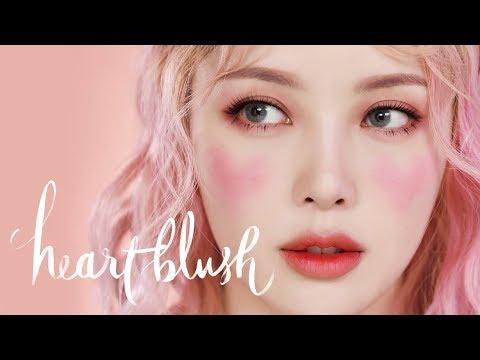 💗Heart Blush Makeup💗 (With sub) 하트 블러쉬 메이크업