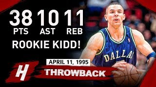 Rookie Jason Kidd COLD Full Highlights vs Rockets 1995.04.11 - 38 Pts, 11 Reb, 10 Ast, 8 Threes!