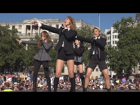 K-Pop Band F(x) Make Their Debut As A Foursome at the London Korean Festival 2015 런던 한인 축제  Part 2