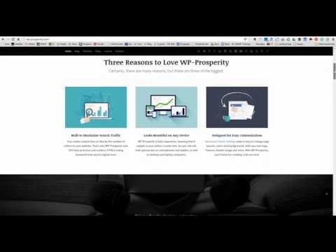 WP-Prosperity WordPress Theme - Home Page Layout Options